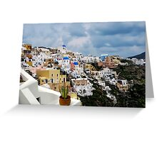 IA VILLAGE - GREECE Greeting Card