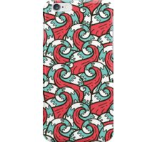 Crazy tangle doodle sea waves pattern iPhone Case/Skin