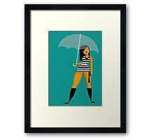 Umbrella girl Framed Print