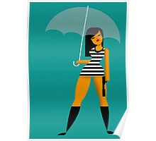 Umbrella girl Poster