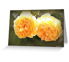 Double Gold. Greeting Card