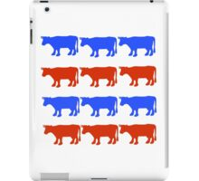 RED WHITE AND BLUE COWS iPad Case/Skin