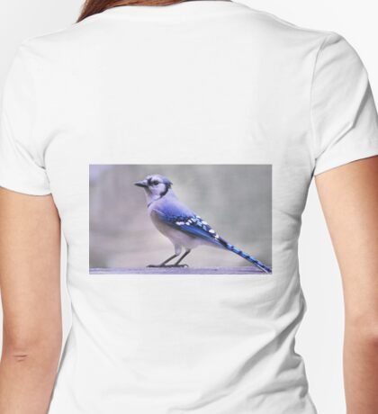 Blue Jay Day Womens Fitted T-Shirt