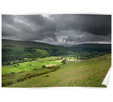 Looking Across Buckden To Langstrothdale Poster