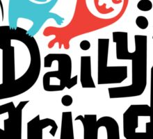 Daily grind - colors Sticker