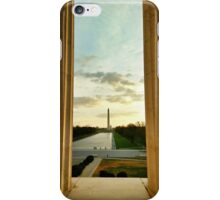 Sunrise | Washington Monument from Lincoln Memorial iPhone Case/Skin