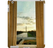 Sunrise | Washington Monument from Lincoln Memorial iPad Case/Skin