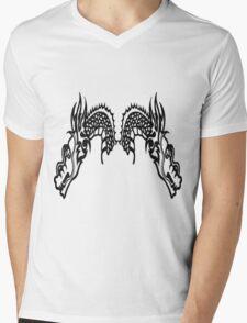 DragonHeads Mens V-Neck T-Shirt