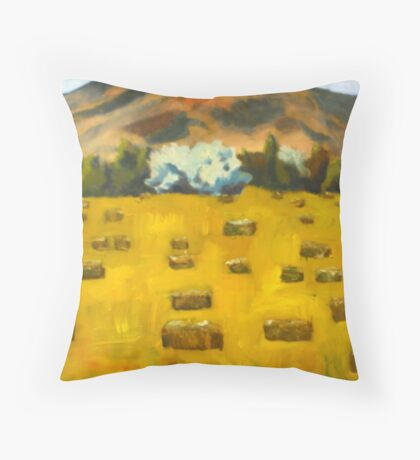 Charleston Hay Field Throw Pillow