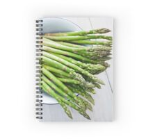 Green asparagus Spiral Notebook