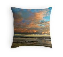 Southend on Sea at Sunset Throw Pillow