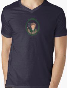 Julia Child Comic Portrait Mens V-Neck T-Shirt