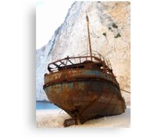 Rustic Shipwreck  Canvas Print