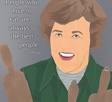 Julia Child Comic Portrait by nealcampbell
