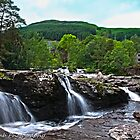 killin falls and water wheel by Vincent Lamb