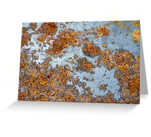 Rusty background Greeting Card