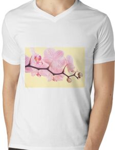 Pink phalaenopsis orchid blossoms Mens V-Neck T-Shirt