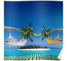 Beach hammocks  Poster