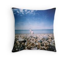 Musings on the Foreshore Throw Pillow