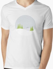 Winter Landscape Mens V-Neck T-Shirt