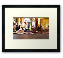 Siem Reap at night Framed Print