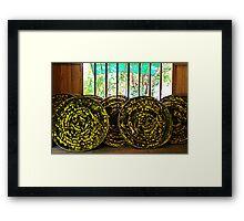 Silk factory, Siem Reap Framed Print