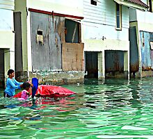 Children playing in Ko Phi Phi by Annaleah
