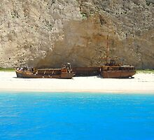 Navagio - Shipwreck Cove by Honor Kyne
