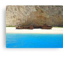 Navagio - Shipwreck Cove Canvas Print