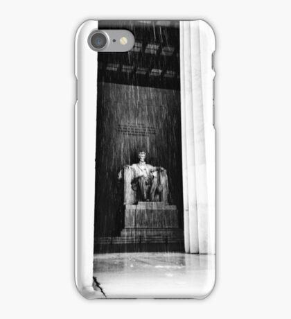 Abraham Lincoln Memorial | Washington DC | Snow iPhone Case/Skin