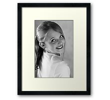 Smile with your eyes.............. Framed Print