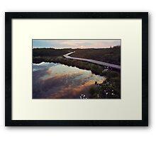 Bog dawn Framed Print
