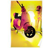 Barbie Vespa Poster
