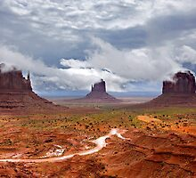 Storm clouds clear over Monument Valley by Martin Lawrence