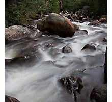 White Washed Rapids Photographic Print