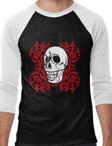 RedRose Skull Men's Baseball ¾ T-Shirt