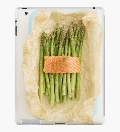 Green asparagus with salmon iPad Case/Skin