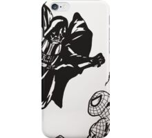 Spiderman vs. Darth Vader iPhone Case/Skin