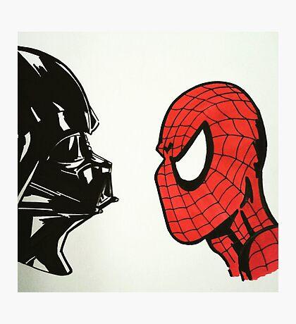 Spiderman vs. Darth Vader 2 Photographic Print
