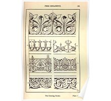 A Handbook Of Ornament With Three Hundred Plates Franz Sales Meyer 1896 0181 Free Ornaments Cresting Border Poster