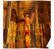 Winged Goddess in the Temple by Sarah Kirk Poster