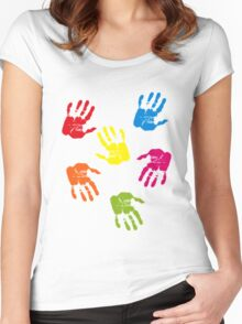 Colourful Hands Women's Fitted Scoop T-Shirt
