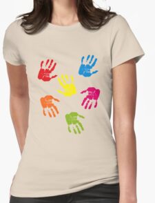 Colourful Hands Womens Fitted T-Shirt