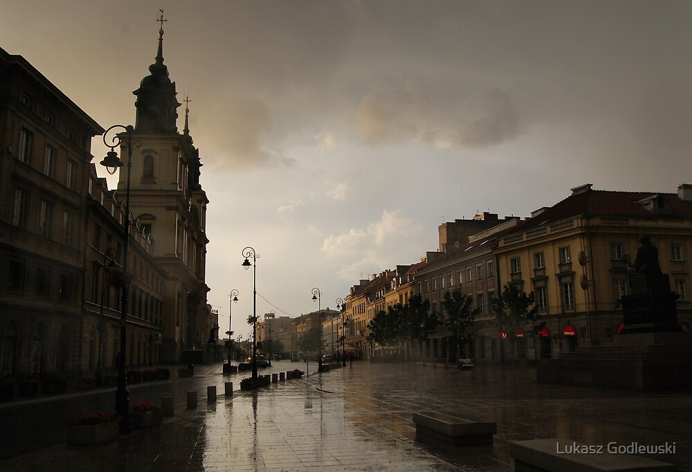 Storm on Royal Route in Warsaw by Lukasz Godlewski
