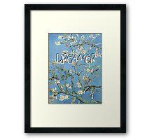 Dreamer text art Framed Print