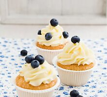 Blueberry cupcakes by Elisabeth Coelfen