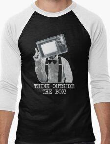 Think Outside The Box! Men's Baseball ¾ T-Shirt