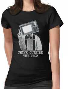 Think Outside The Box! Womens Fitted T-Shirt