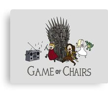 Game Of Chairs Canvas Print