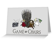 Game Of Chairs Greeting Card